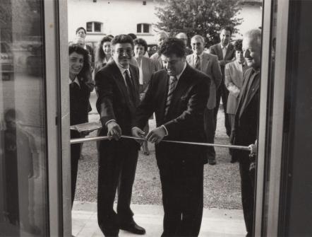 Inaugurazione negozio espositivo di Palmanova nel 1995